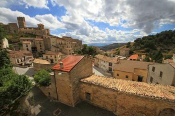 The town of Castel del Monte in Abruzzo, Italy.