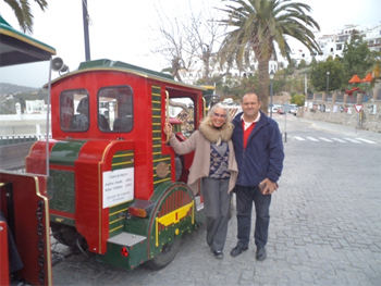 Tiny tourist train in Andalusia.