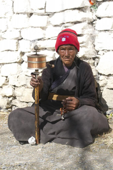 A nun at the Muktinath Temple.