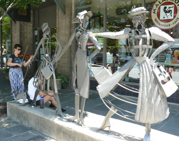 Asheville has lots of cool sculptures in the downtown area.