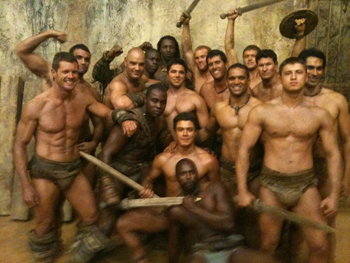 Actors in the Starz production of Spartacus in Auckland, New Zealand. photo by Mike Markoff.