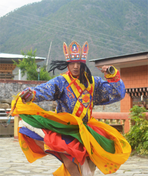A Bhutanese dancer.