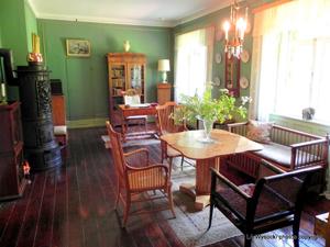 The Green Room at the Karen Blixen museum, Denmark.