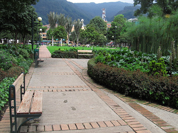 Parque 93 in Bogota. photo by Jasmine Stephenson.