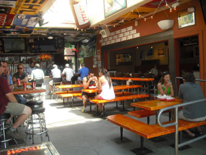 Parrilla grill's courtyard.
