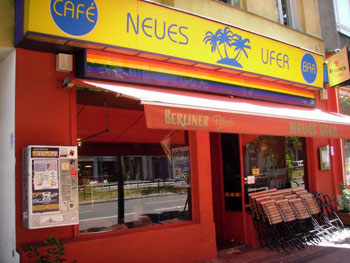 A cafe once frequented by David Bowie in Berlin.