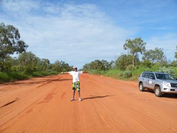 man-in-road