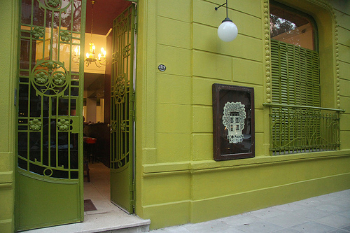 You can't miss the green building on Guatemala Street!