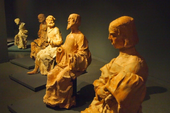 The life size sculptures of the Last Supper in Machado de Castro National Museum in Coimbra.