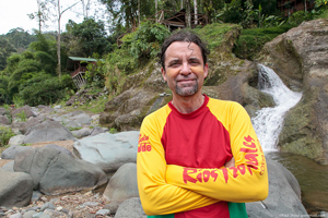 Rios Tropicales founder Fernando Esquivel at his eco lodge on the banks of the Pacuare river