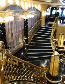 Msc Preziosa;s magnificent staircase.