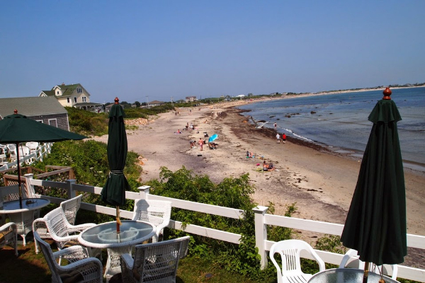The beach from the Surf Hotel on Block Island.