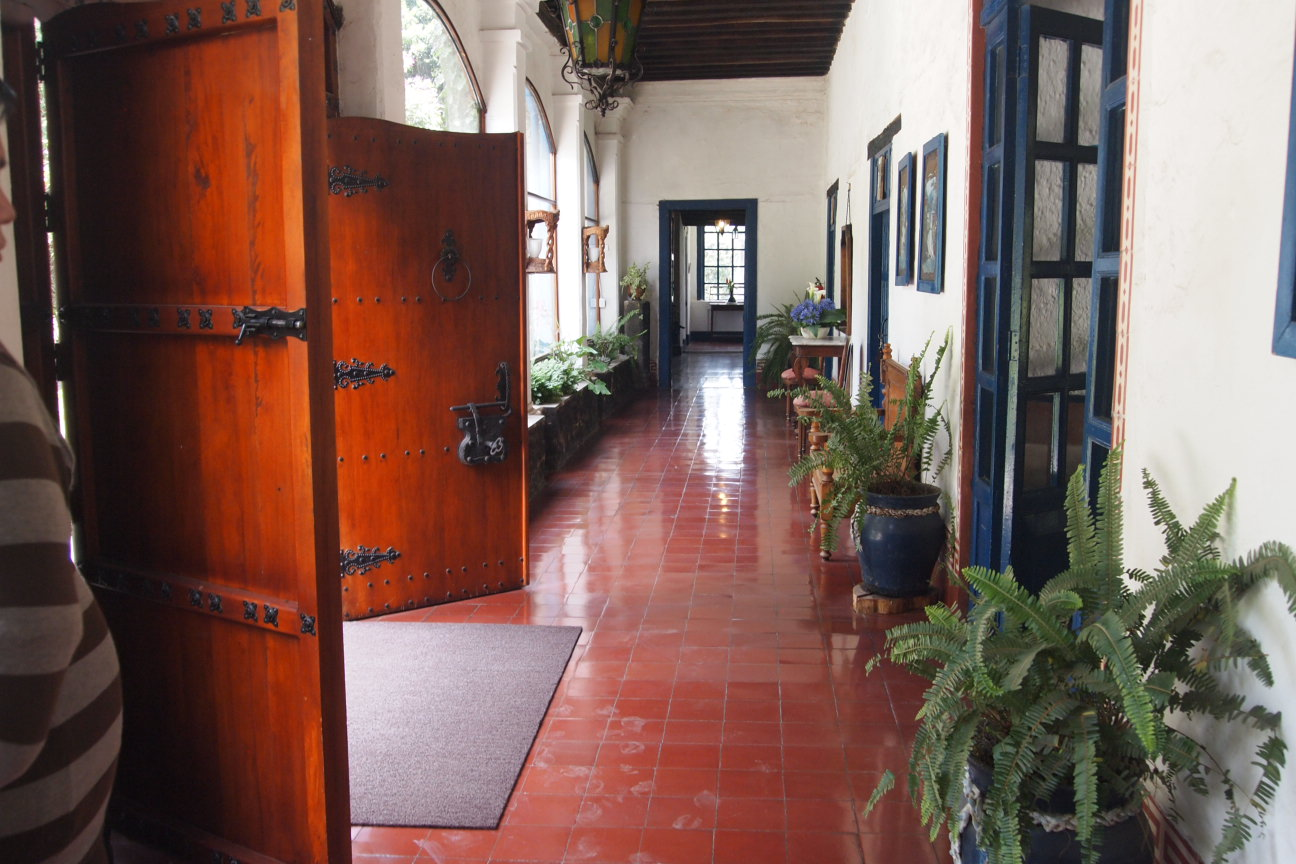 Inside the Hosteria Hacienda Pinsaqui.
