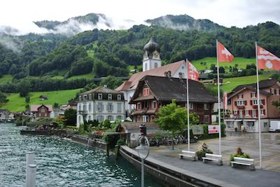 Lakeside in Switzerland.