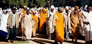 Pilgrims in Axum.