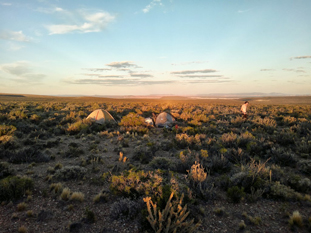 Freerange camping near Trelew, Argentina after a long day of hitchhiking through Patagonia.