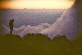 A traveler atop the volcano in Guatemala. Vassilissa Ranson photos.