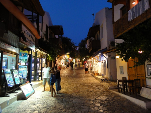 Kas at night.