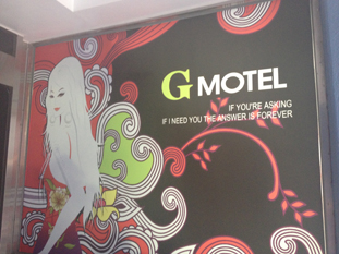 The G Motel costs $45 a night, and sits hidden down a side street in Waegwan