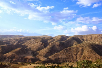 The brown hills of Kurdistan.