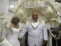 The king and queen of their Krewe.