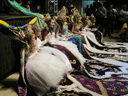 Mardi Gras queens at the Royal Gala in Lake Charles.