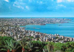 Lebanon, a panorama of the sea.