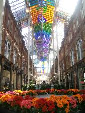 Victoria Quarter, Leeds beautiful indoor shopping plaza.