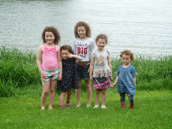 Kids in the countryside outside of Limerick.