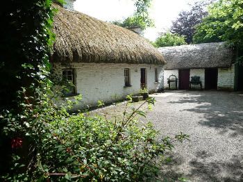 A rural house built in the traditional manner.