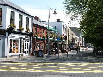 Street scene in Limerick Ireland.