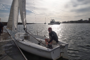 Setting sail in Marina del Rey, California. Max Hartshorne photos.