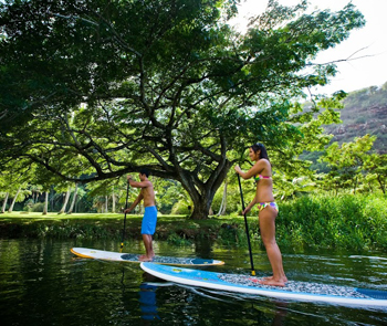 Everyone loves stand up paddling, especially on Maui.