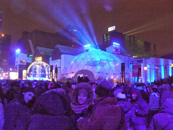 Montreal is illuminted throughout the cold winters night during the festival Lumiere.