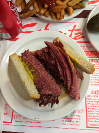 The legendary smoked meat sandwich at Montreal's Schwartz's Deli.