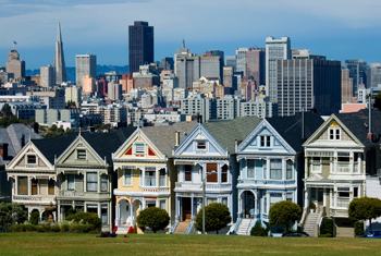 The San Francisco skyline.