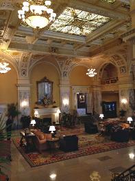 Hermitage Hotel's elegant lobby.