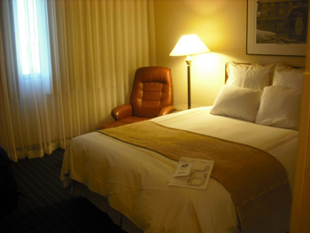 A hotel room with great amenities in Norman Oklahoma. photos by MJ McKenzie.