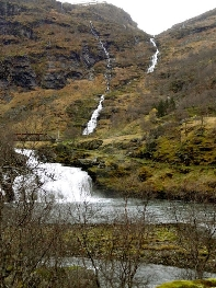 A faraway waterfall, plentiful in the Fjordlands.
