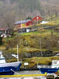 The ferry dock at Flam.