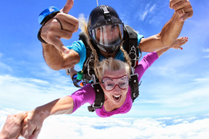 Patti skydiving