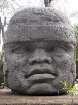 Colossal Olmec head at Tijuana Cultural Center. photos by Gary Singh.