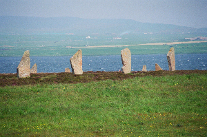 Ring of Brodgar neolithic stone circle.