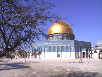 The Dome of the Rock, in the Holy land.