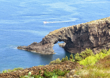 The Elephant, a famous sea arch on the island of Pantelleria, off the coast of Tunisia. photos by Kristan Lawson.