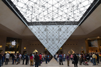 The Louvre, home of the Mona Lisa and other masterpieces.