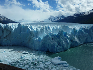 View of the Perito Moreno Glacier from the catwalk