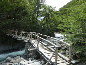 Bridge crossing on the Mirador Torres trail.