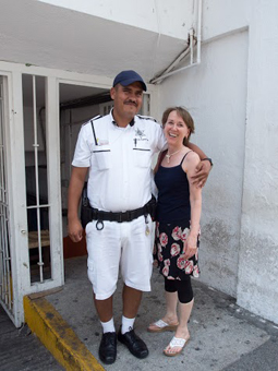 Cindy Bigras with PV's tourist police.
