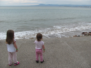 Toddlers at the Puerto Vallarta Beach. Bonnie Way photos.